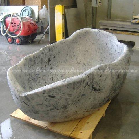 stone bath bathtub