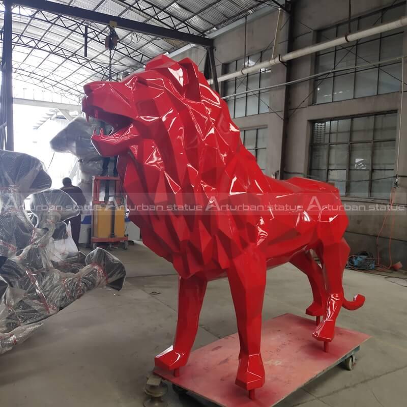 resin lion statue