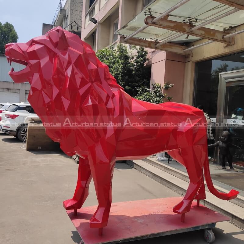 resin lion statue