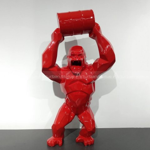 red gorilla sculpture