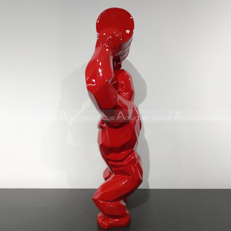 red gorilla sculpture