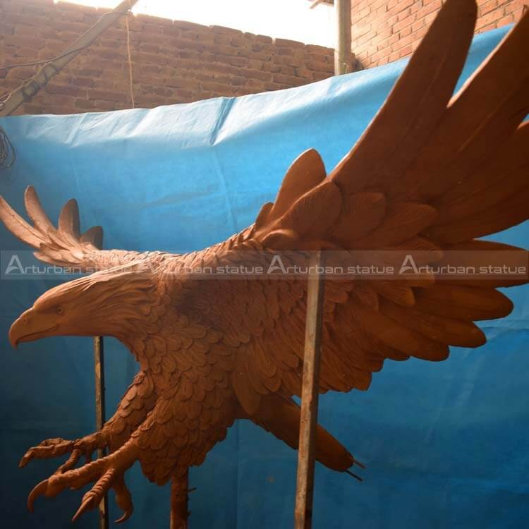 large size bronze eagle statue