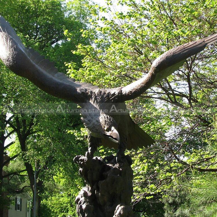 brass eagle sculptures