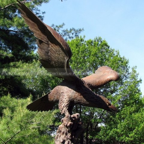 life size outdoor eagle statues