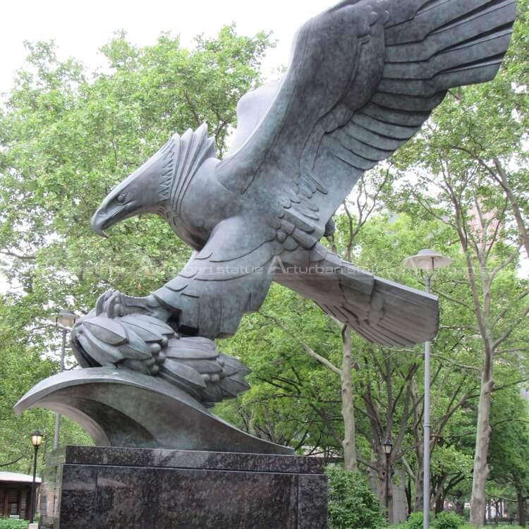 outdoor eagle statues