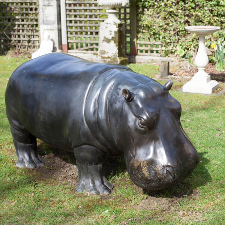 hippo outdoor statue