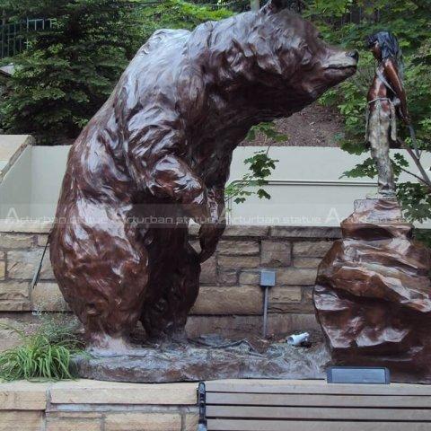 decorative bear statues