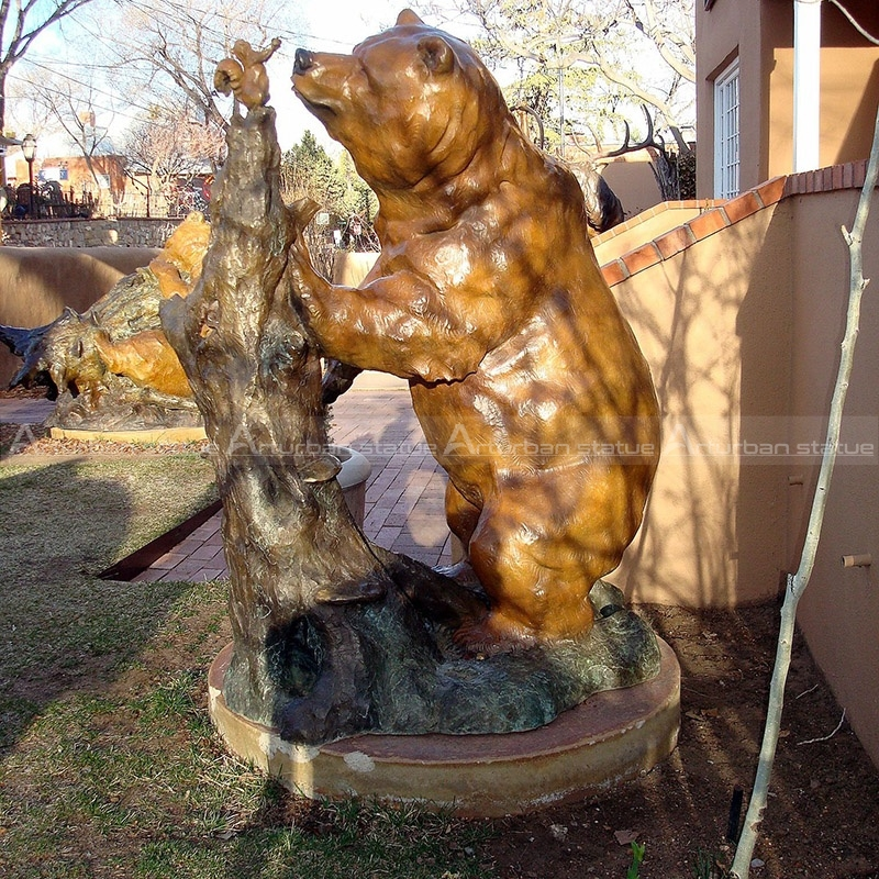 outdoor bear sculpture