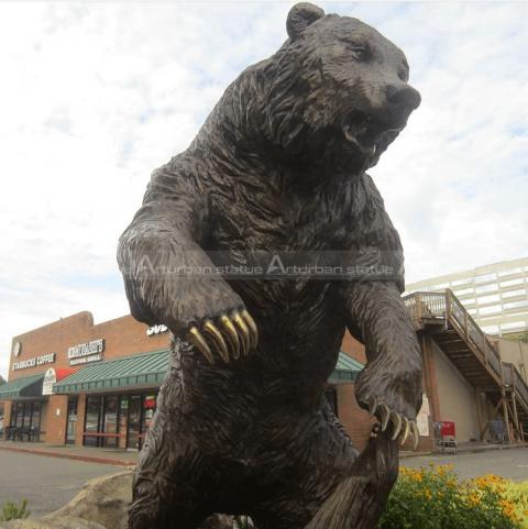 Bear lawn statue