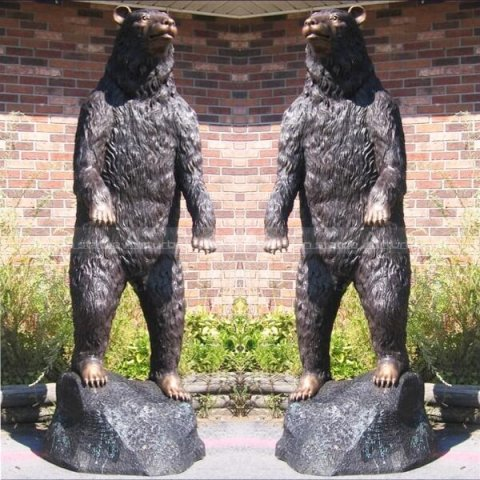 Black bear sculpture