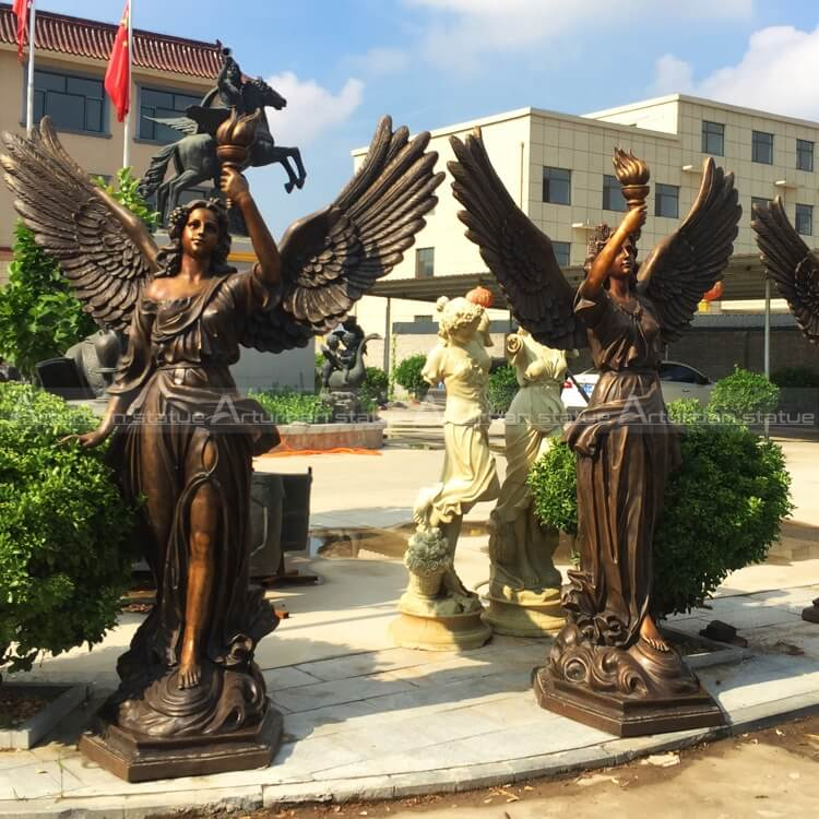 large garden angel statues