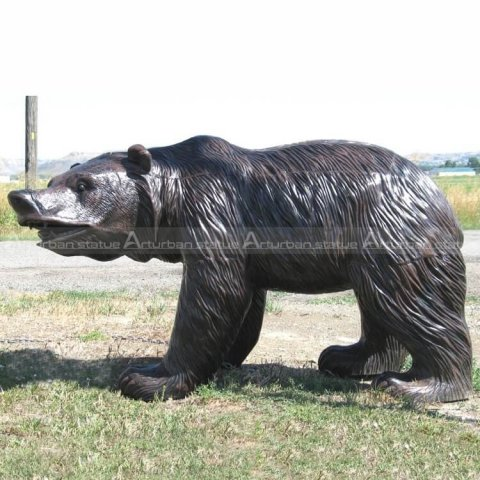 Outdoor bear statues