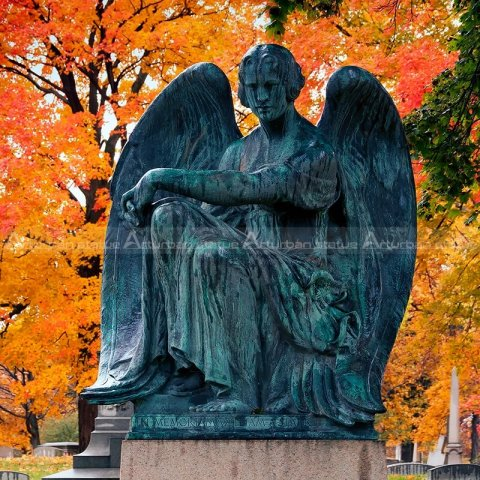 cemetery angel statues