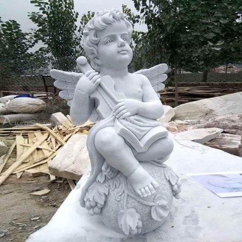 cherub garden statue