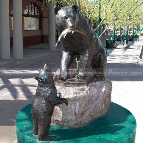 Large outdoor bear statues