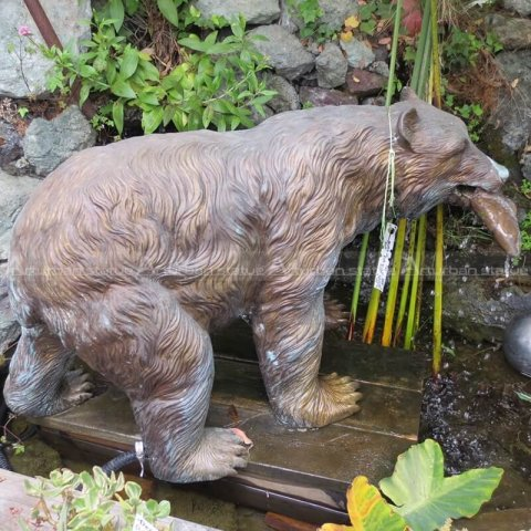 Bear yard statues