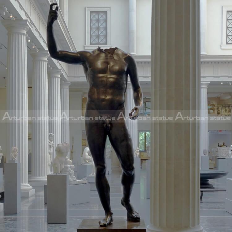 bronze nude man