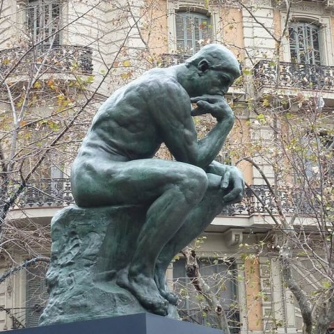 thinking man sculpture