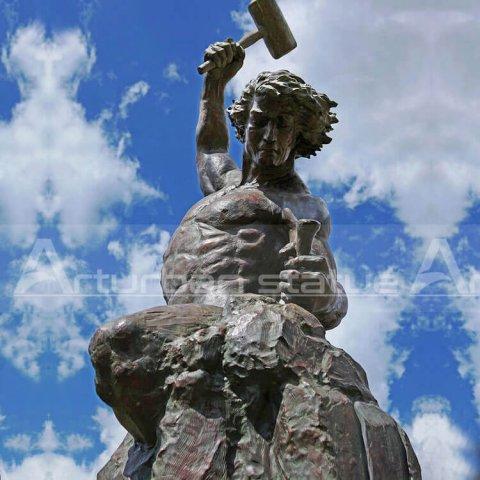 self made man statue