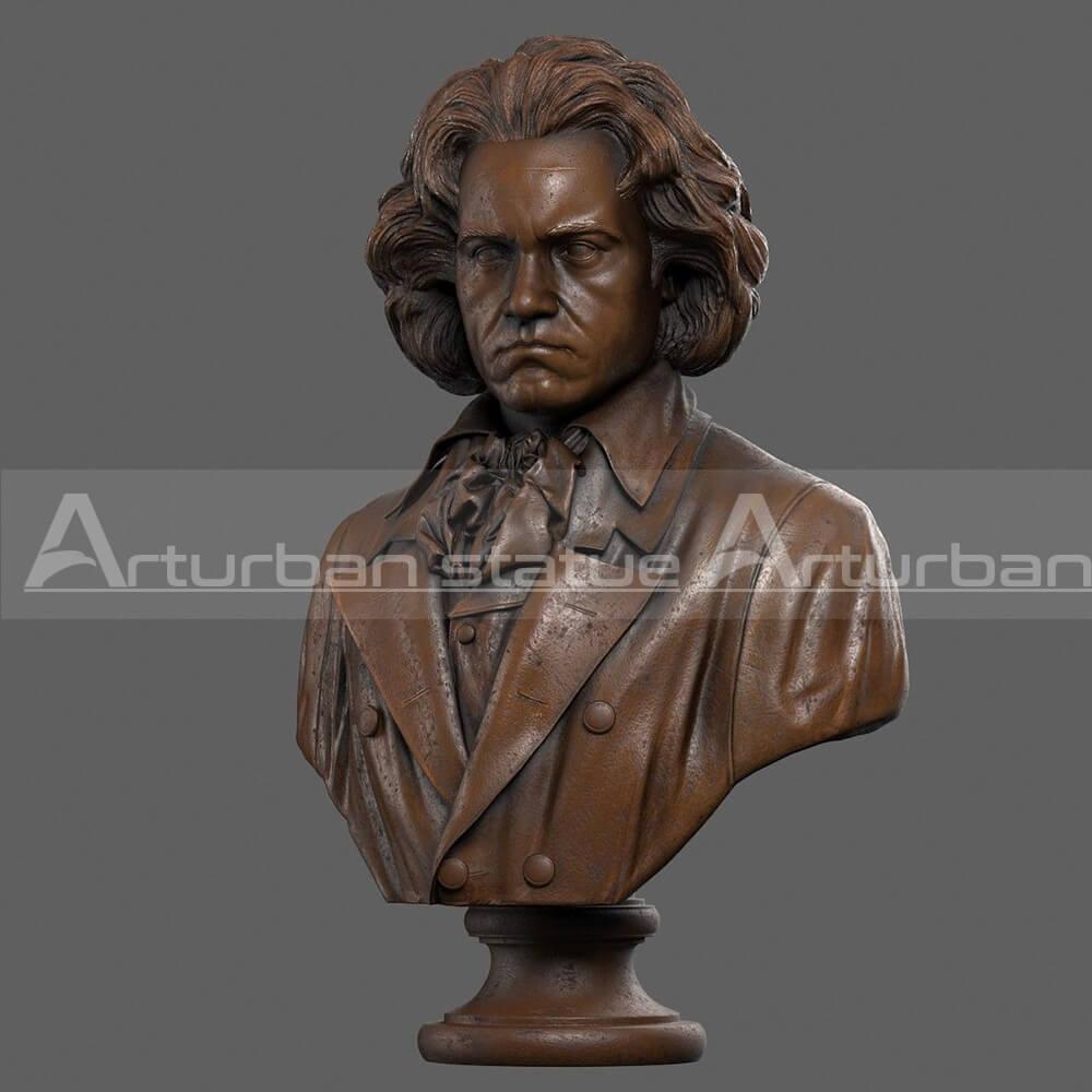beethoven head sculpture