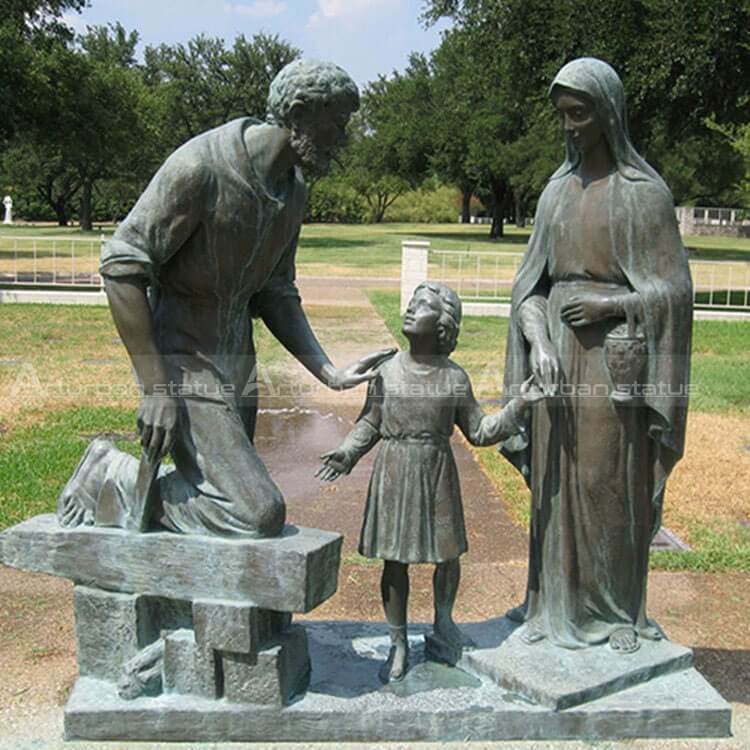 Mama mary with family statue