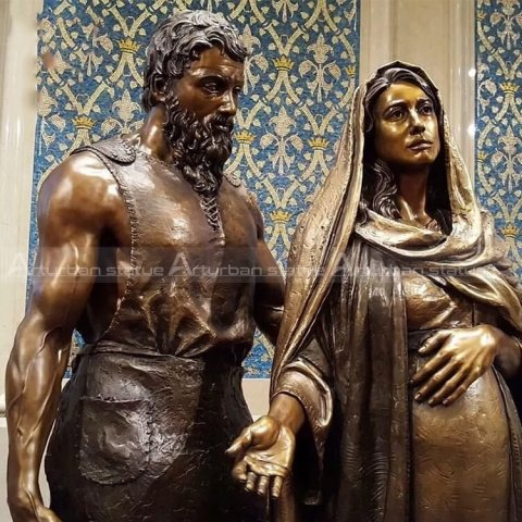 pregnant virgin mary statue