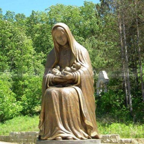 madonna and child garden statue