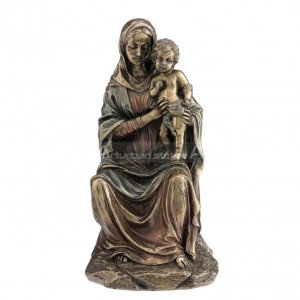 mary with baby jesus statue