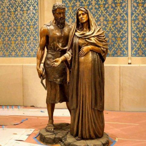 mary and joseph statue