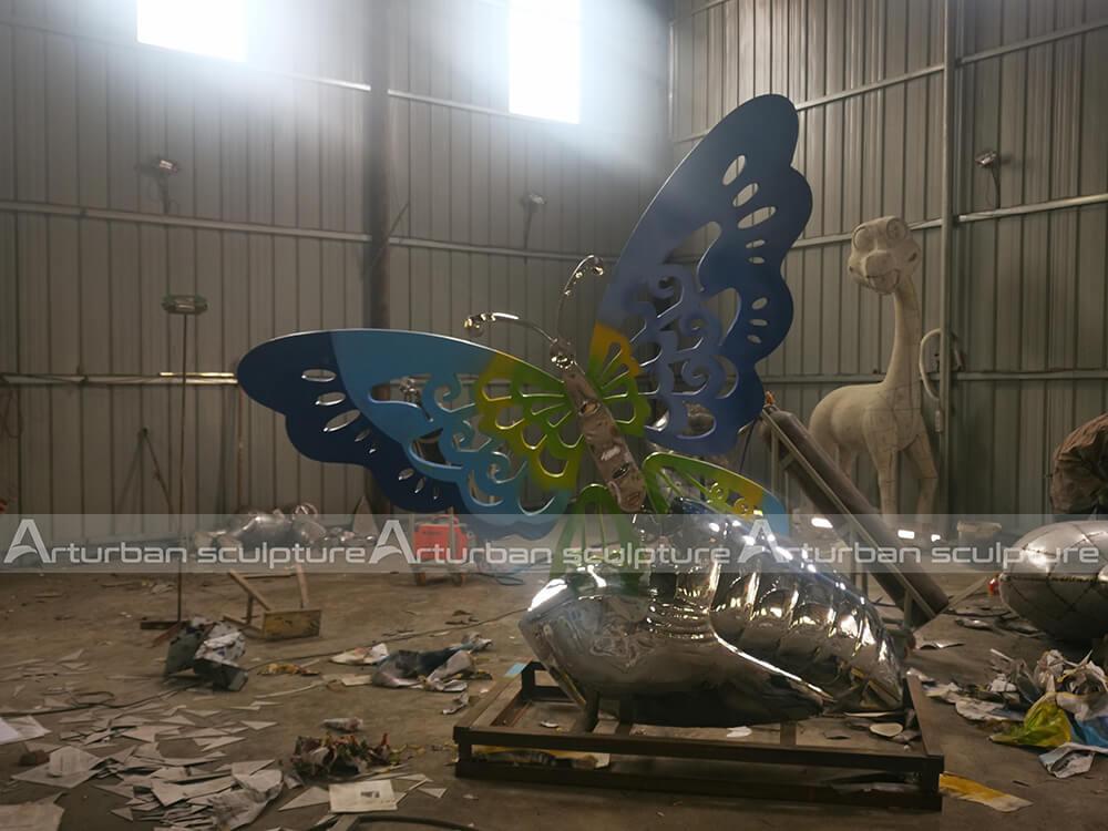 Large butterfly garden sculpture