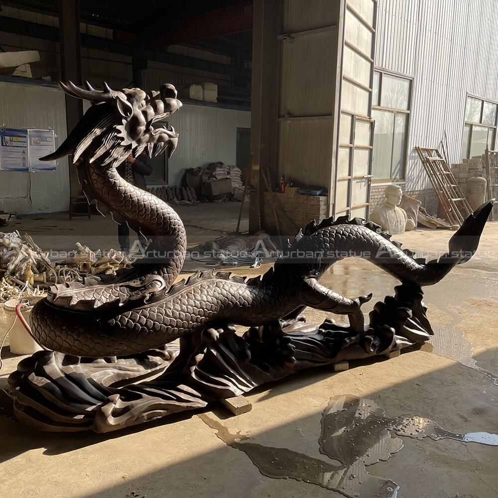 Dragon fountain statue