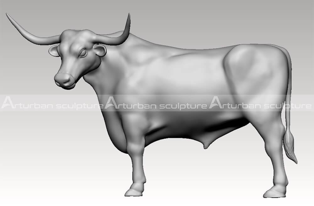 3D model of longhorn statue