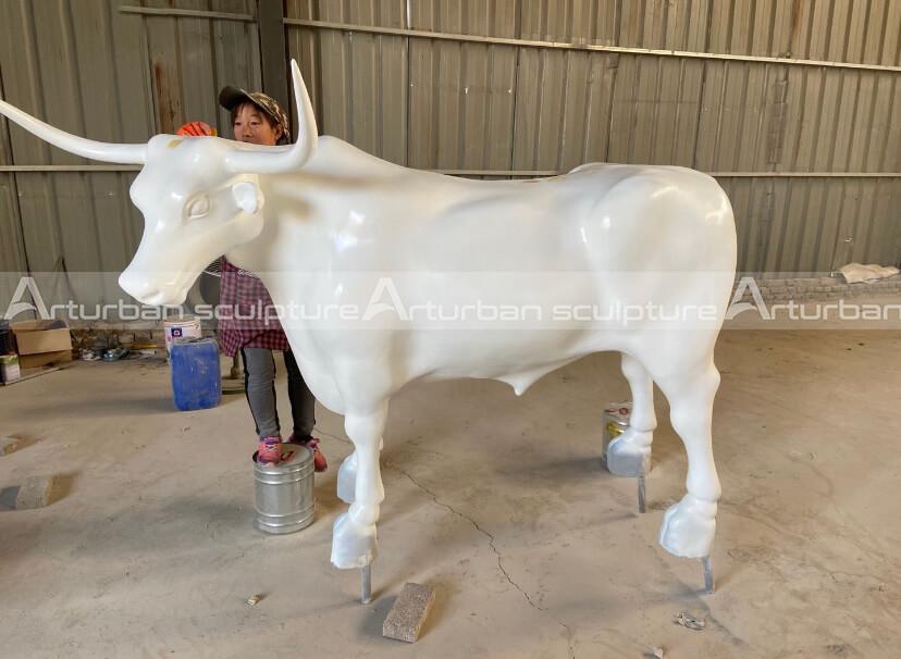 fiberglass longhorn statue
