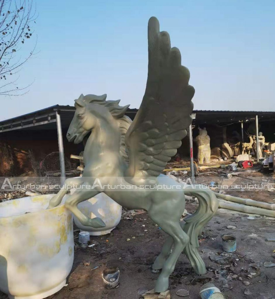 garden pegasus statue