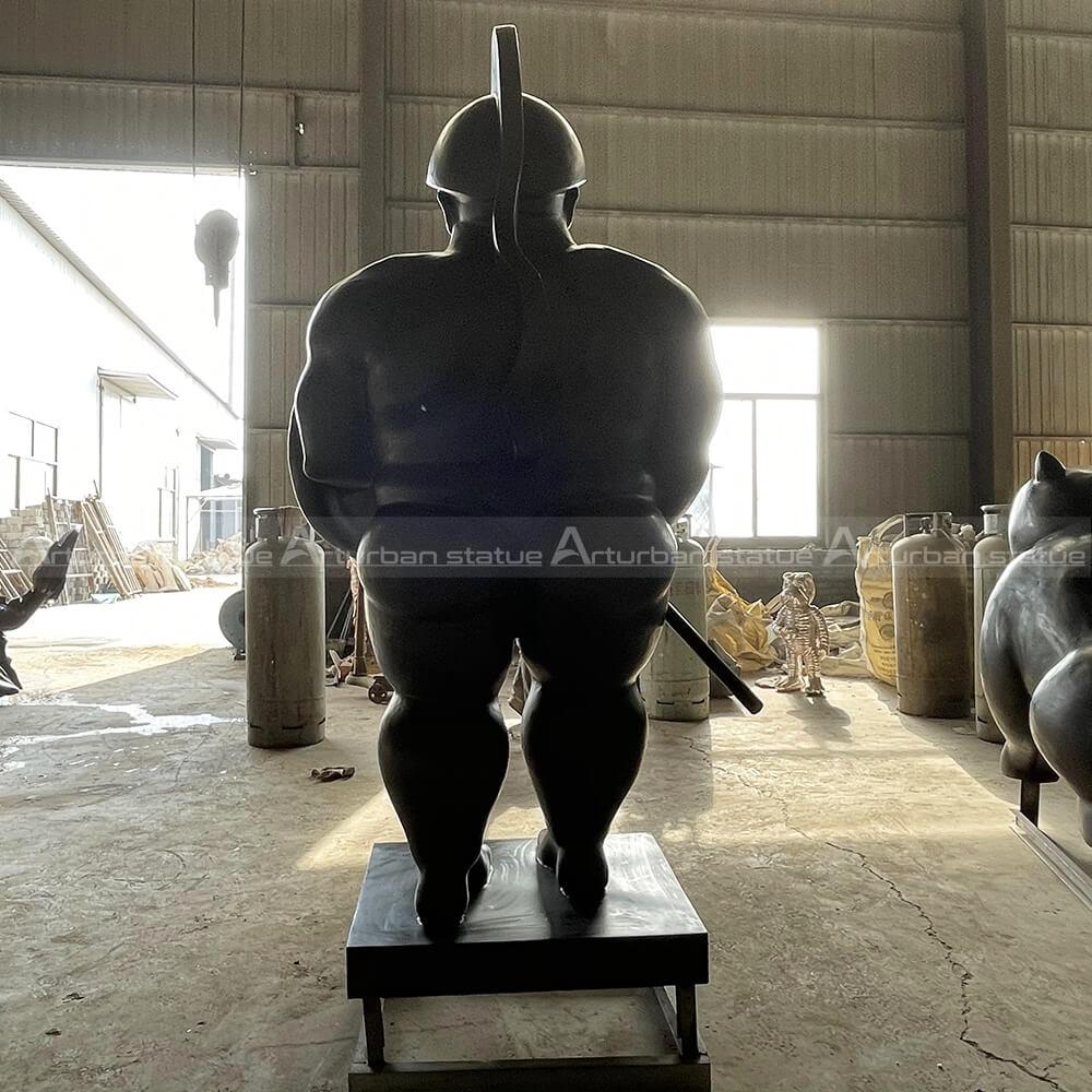 fat man statue