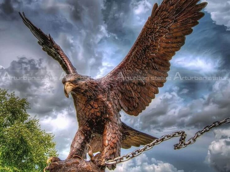 large eagle sculpture