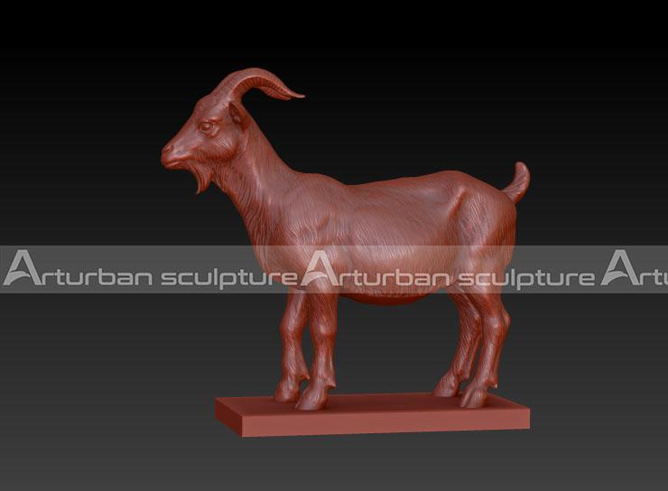 3D design of goat sculpture
