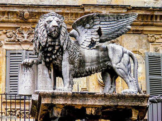 lion with wings